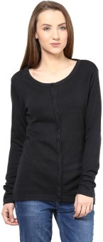 Annabelle By Pantaloons Women's Button Solid Cardigan - CGNEA39VYYYPZFRE
