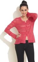 Elle Women's Button Solid Cardigan