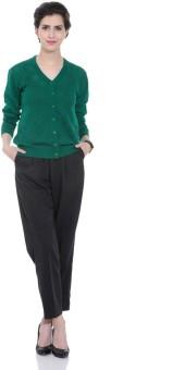 Tab 91 Women's Button Solid Cardigan - CGNEBY6YCG6R6ZKS