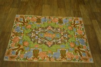 AmazingHind Squares And Paisley Handmade Silk Area Rug