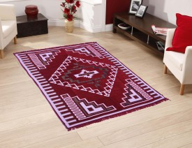 FURNISHING KINGDOM Multicolor Velvet Carpet