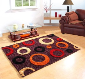 Excel Bazaar Multicolor Polyester Carpet