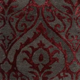 Rugs N More Grey, Maroon Wool, Silk Carpet