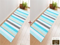 Saral Home Blue Cotton Area Rug - CPGEBUEJANBXKGFF