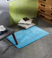 SWHF Blue Cotton Area Rug 65 Cm  X 105 Cm