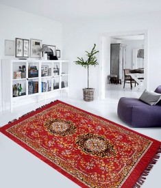 Excel Bazaar Maroon Polyester Carpet