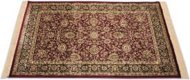 FURNISHINGLAND Maroon Silk Carpet
