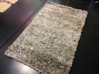 Carpet Couture White, Black Polyester Area Rug