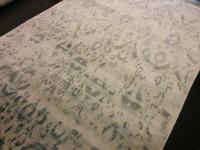Carpet Couture White, Grey, Blue Silk Area Rug