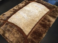 Carpet Couture White, Brown Polyester Area Rug