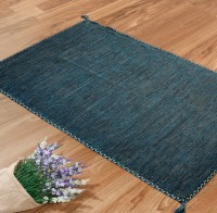 Shahenaz Home Shop Blue Cotton Area Rug - CPGE9HQRKKGEHMYR