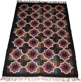 Lal Haveli Pink Jute Carpet