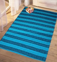 Saral Home Blue Cotton Area Rug 90 Cm  X 150 Cm