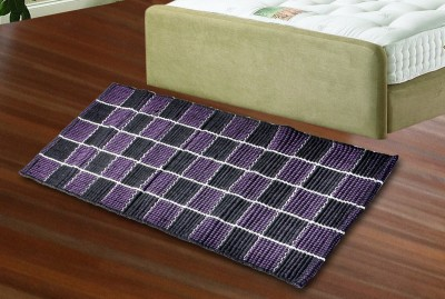 JBG Home Store Purple, Black Cotton Floor Runner