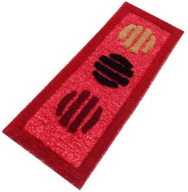 Home Fashion Red Polyester Carpet
