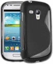 S Design Back Cover For Samsung I8190 Galaxy S3 Mini - Black