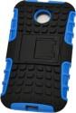 NCase Back Cover For Motorola Moto E - Blue & Black
