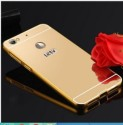 Mahi Max Back Cover For Metal Bumper Plus Acrylic Mirror Back Cover Case For LETV LE 1s (Gold)