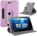 TGK Book Cover For Universal 7 Inch 360 Degree Rotating Leather Case Cover Stand For Galaxy Tab Tablet PC (Light Pink)