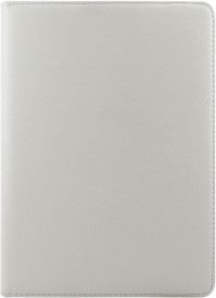 DMG PU Leather 360 Degrees Rotating Stand Case for Apple iPad Air (White) + 3.5mm Jewel Dust Jack Combo Set