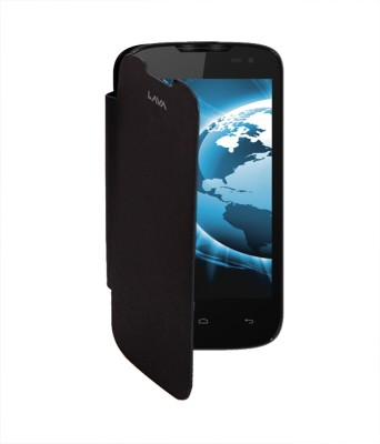 KolorEdge Flip Cover for Lava iris 402 Black
