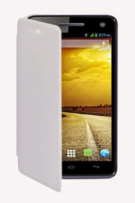 Moblish Flip Cover for Gionee Pioneer P3 White available at Flipkart for Rs.199