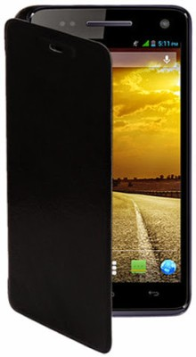 G4U Flip Cover for Xolo A800 SS Black available at Flipkart for Rs.197