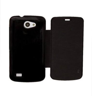 KHARIDO24 Flip Cover for Gionee Pioneer P3 Black available at Flipkart for Rs.185