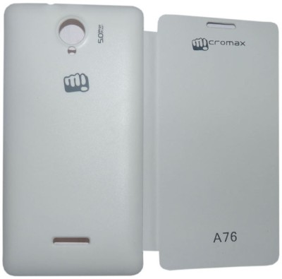 Canvas Flip Cover for Micromax Canvas Fun A76 White available at Flipkart for Rs.179