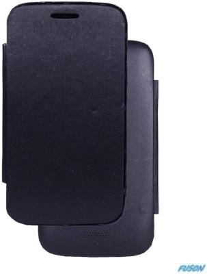 Fuson Flip Cover for Karbonn A50 Black available at Flipkart for Rs.399