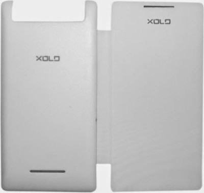 Kharido24 Flip Cover for Xolo A800 White available at Flipkart for Rs.199