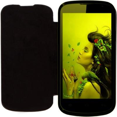 KolorEdge Flip Cover for Lava Iris 458Q Black available at Flipkart for Rs.298