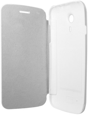 Chevron Flip Cover for Micromax Superfone Canvas 3D A115 White