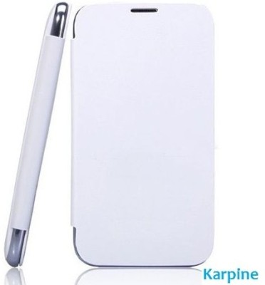 Karpine Flip Cover for MicroMax Bolt A47 White available at Flipkart for Rs.99