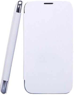 YGS Flip Cover for Micromax A116 Canvas HD White available at Flipkart for Rs.199