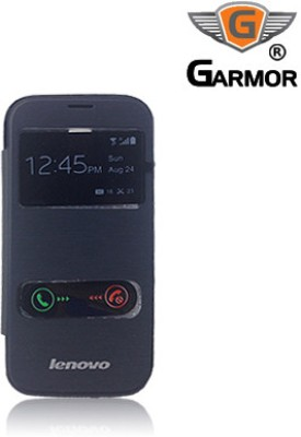 Garmor Flip Cover for Lenovo A390 Black available at Flipkart for Rs.299