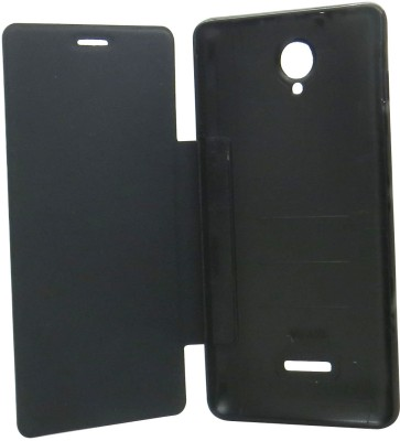 Snooky Flip Cover for For Micromax Canvas Fun A76 Black available at Flipkart for Rs.189