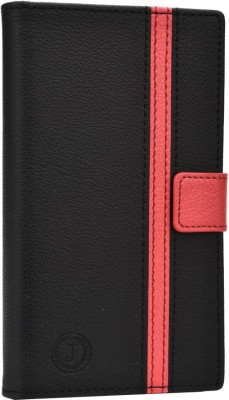 Jojo Flip Cover for iBall Andi 5h Quadro Black, Red available at Flipkart for Rs.690