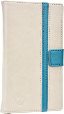 Jojo Flip Cover for IBall Andi 5H Quadro White Light Blue available at Flipkart for Rs.690