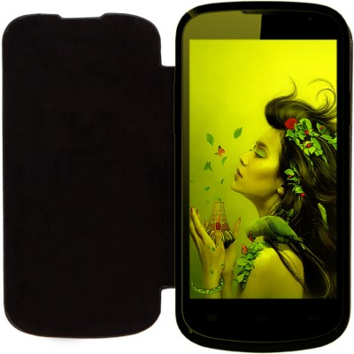 KolorEdge Flip Cover for Lava Iris 458Q Black available at Flipkart for Rs.298