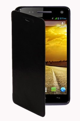 Moblish Flip Cover for Gionee Pioneer P3 Black available at Flipkart for Rs.180