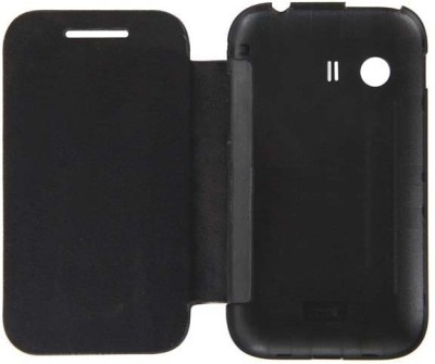 Case-M Flip Cover for Micromax Canvas Fun A76 Black