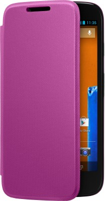 Motorola Flip Cover for Moto G (Purple)