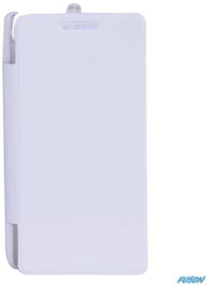 Fuson Flip Cover for Xolo A800 White available at Flipkart for Rs.399