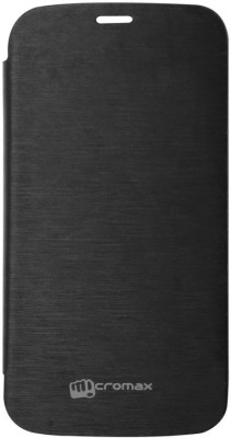 YGC Flip Cover for Micromax Canvas A76 Black available at Flipkart for Rs.130