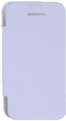 Case M Flip Cover for KARBONN A50 White available at Flipkart for Rs.398