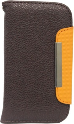 Jojo Flip Cover for Huawei Ascend G700 Brown, Orange available at Flipkart for Rs.590