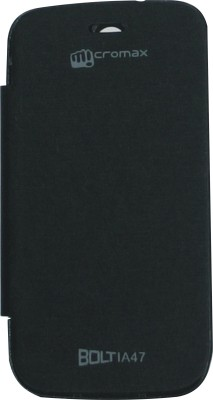 Evergreen Flip Cover for Micromax Bolt A47 available at Flipkart for Rs.140