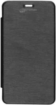 Micvir Flip Cover for Micromax Canvas Fun A76 Black available at Flipkart for Rs.149