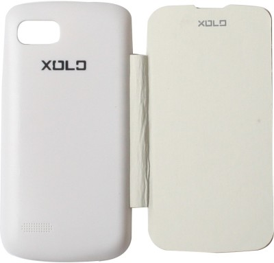 Edge Flip Cover for Xolo A800 White White available at Flipkart for Rs.299
